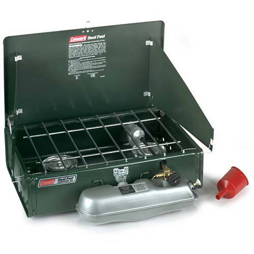 Coleman 14,000 BTU Dual Fuel 2-Burner Camp Stove by COLEMAN