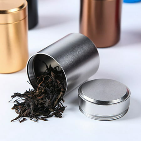 Tea Tins Canister Set for Loose Tea - Small Kitchen Canisters for Tea Coffee Sugar Storage, Loose Leaf Tea Tin Containers - Tea Canisters ()