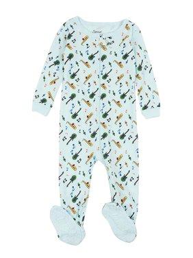 Leveret Kids Pajamas Baby Boys Girls Footed Pajamas Sleeper 100% Cotton (Instruments, Size 4 Toddler)