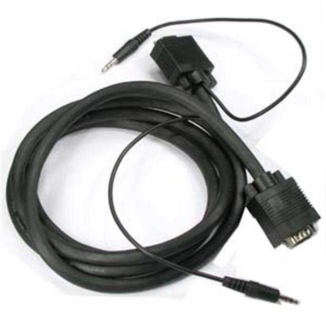 Eagle Electronics 180556 50Ft Super Shield SVGA Plus 3.5mm Audio Male to Male Monitor Cable