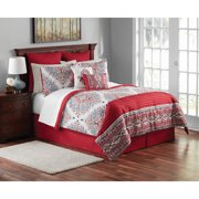 Mainstays 12-Piece Damask Bedding Comforter Set