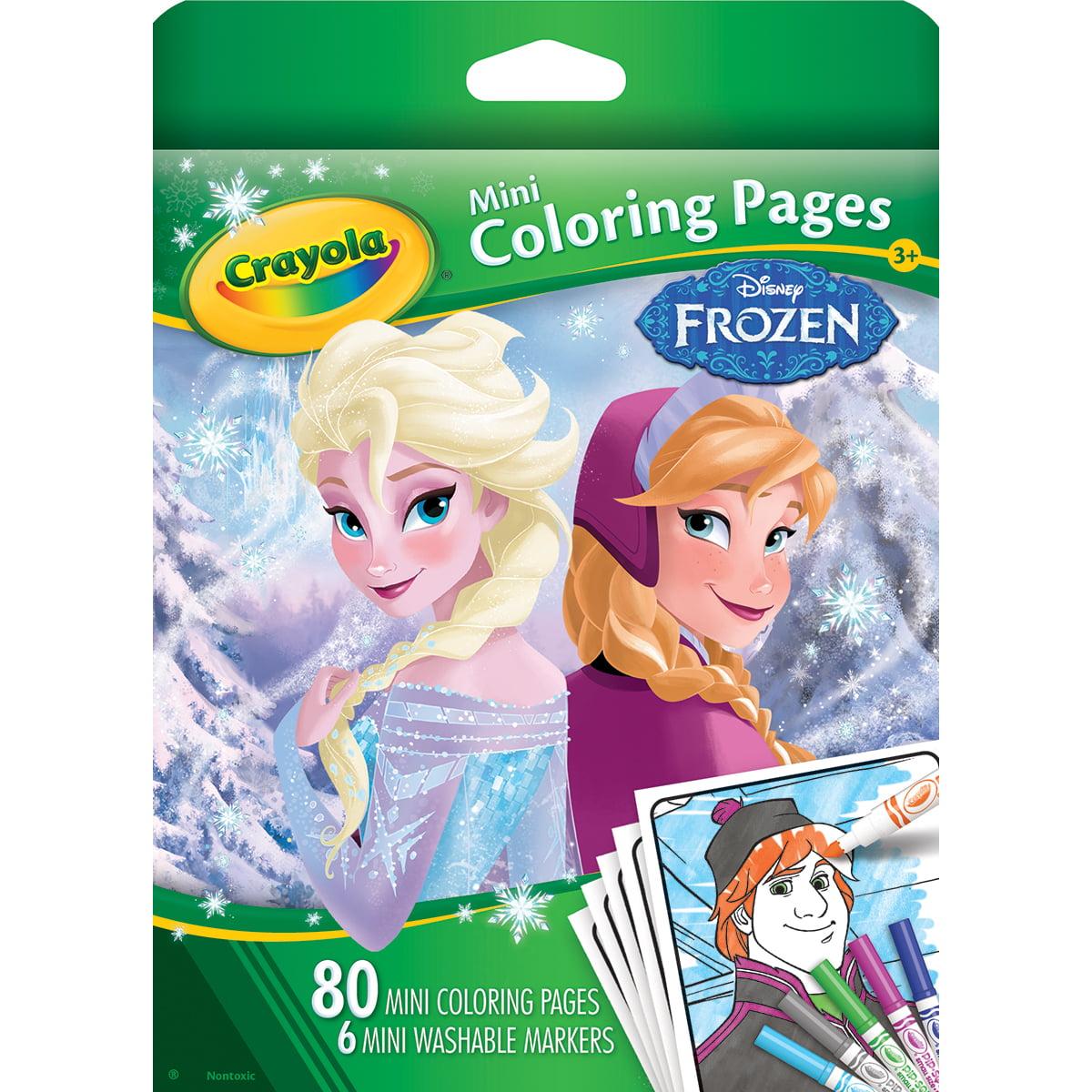 Crayola Mini Coloring Pages-Disney Frozen