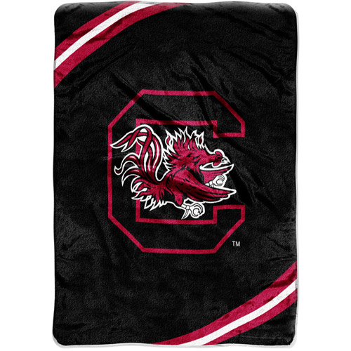 "NCAA 60"" x 80"" Royal Plush Raschel Throw, University of South Carolina"