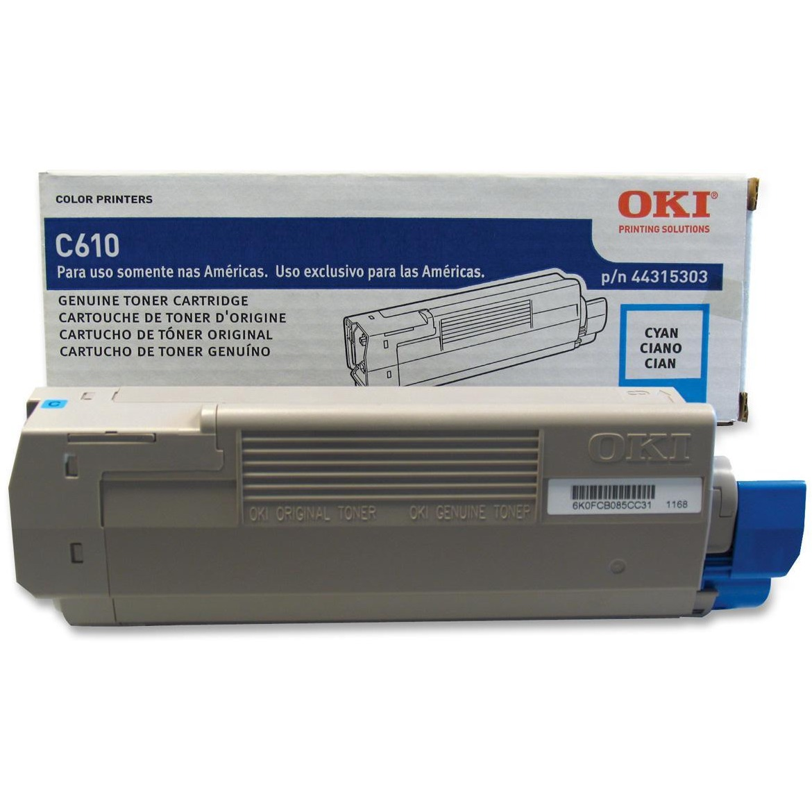 Oki, OKI44315303, 44315301/02/03 Toner Cartridges, 1 Each