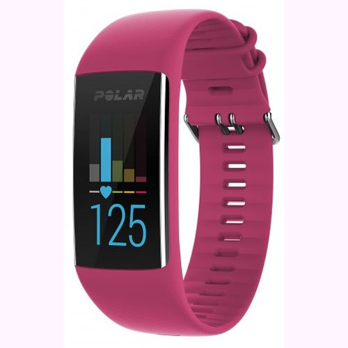 Polar A370 Fitness Tracker with 24/7 Wrist Based Heart Rate Monitor, Pink, Small