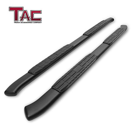TAC Side Steps Running Boards Fit 2019 Chevy Silverado 1500 Double Cab / 2019 GMC Sierra 1500 Double Cab Truck Pickup 4.25