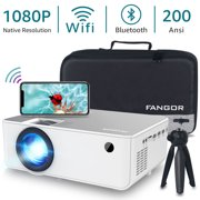 """FANGOR Native 1080P Projector, Full HD Movie Projector with 230"""" Projection Size, Ideal for Home Theater"""