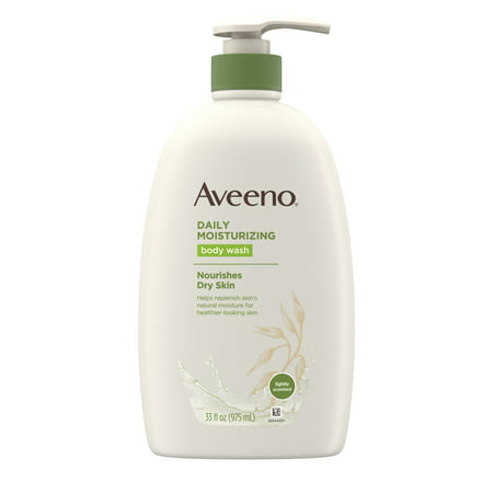 Aveeno Daily Moisturizing Body Wash with Soothing Oat, 33 fl. oz By Moisturizing Body Wash
