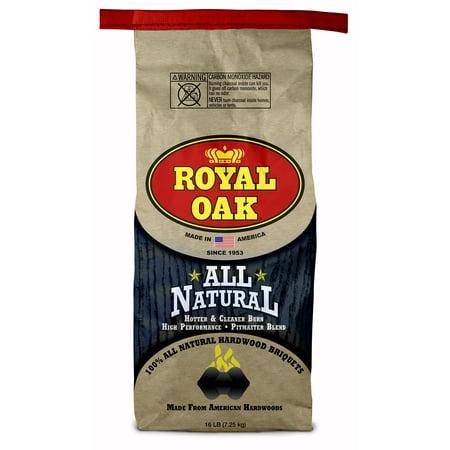 Royal Oak All Natural Hardwood Charcoal Briquets, 16 Lb