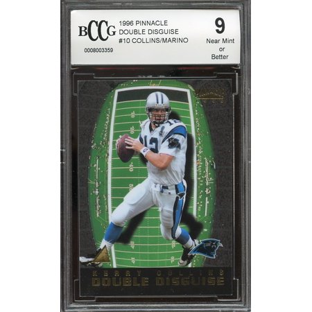 1996 Pinnacle Mint (1996 pinnacle double disguise #10 KERRY COLLINS / DAN MARINO BGS BCCG 9)