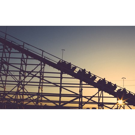 LAMINATED POSTER Roller Coaster Ride Amusement Park Coaster Poster Print 24 x (Vintage Amusement Parks)