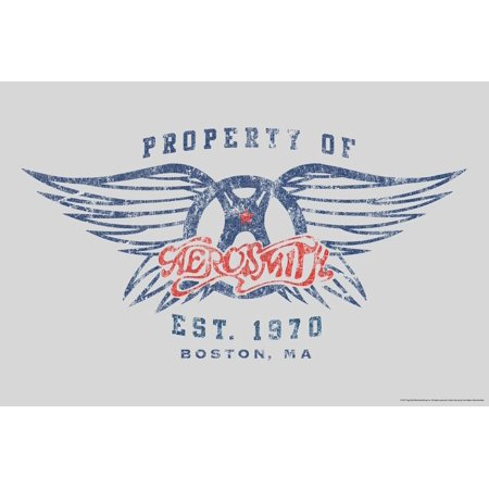 Aerosmith, Property of. Est. 1970 Boston, MA Poster Wall