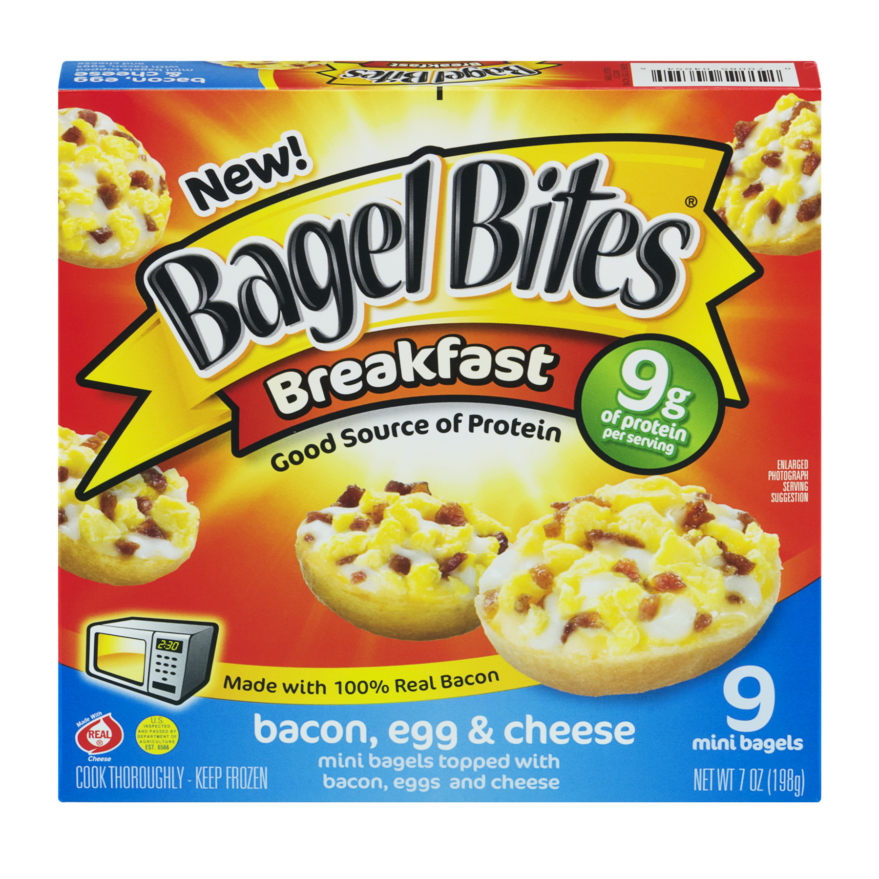 Bagel Bites® Breakfast Bacon, Egg & Cheese 9 ct Box