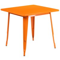 "Flash Furniture 31.5"" Square Metal Indoor-Outdoor Table, Multiple Colors"