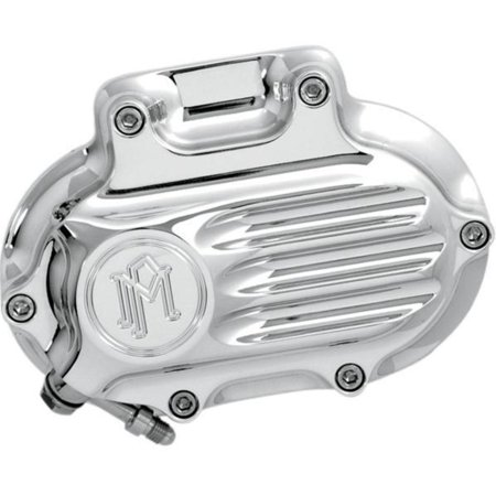 Chrome Transmission Cover (Performance Machine 0066-2028-CH Fluted 6 Speed Cable Transmission Side Cover -)