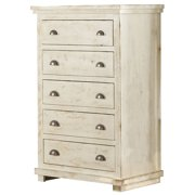 Progressive Willow 5 Drawer Chest in Distressed White