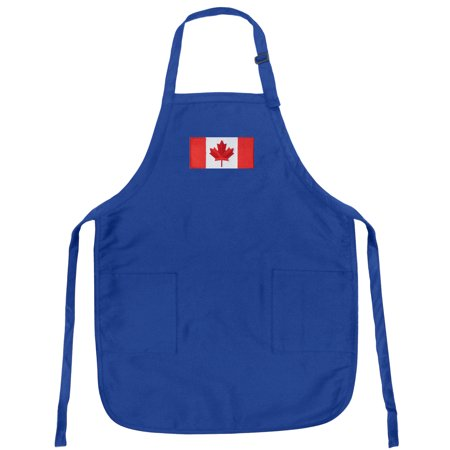 Canada Flag Apron Mens or Womens for Grilling Barbecue Kitchen Tailgating Canada Aprons Famous Broad Bay