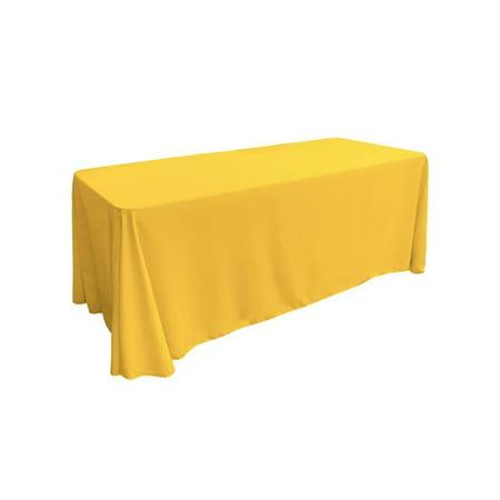 LA Linen TCpop90x132-YellowDrkP47 Polyester Poplin Rectangular Tablecloth, Dark Yellow - 90 x 132 in. - image 1 de 1