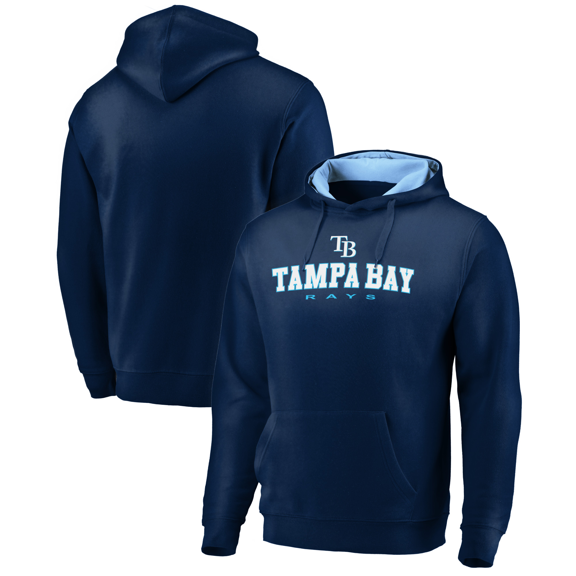Tampa Bay Rays Fanatics Branded Big & Tall Block Lineup Zone Fleece Pullover Hoodie - Navy