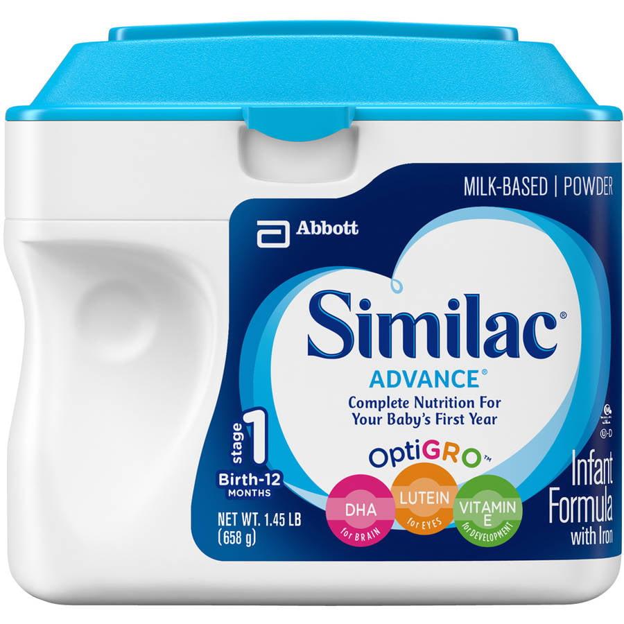 Similac Advance Infant Formula with Iron Powder, Stage 1, 1.45 lb