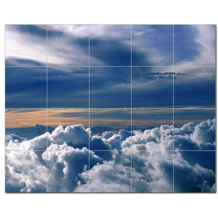 Clouds Scene Ceramic Tile Mural Kitchen Backsplash Bathroom Shower 404