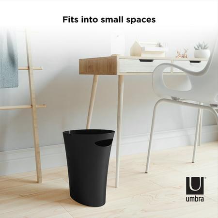 Umbra 2 Gallon (7.5L) Skinny Trash Can, Black