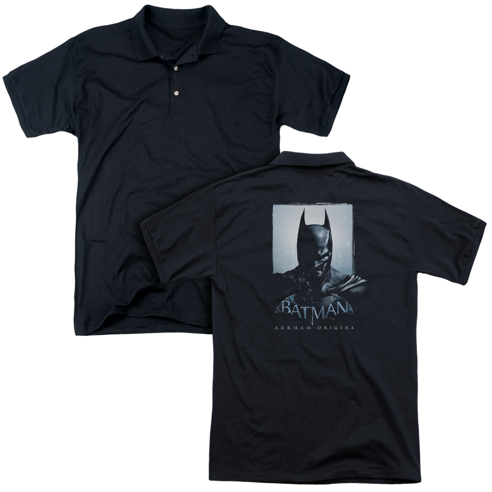 Batman Arkham Origins Comics Angry Bat Poster Adult Back Print Polo T-Shirt