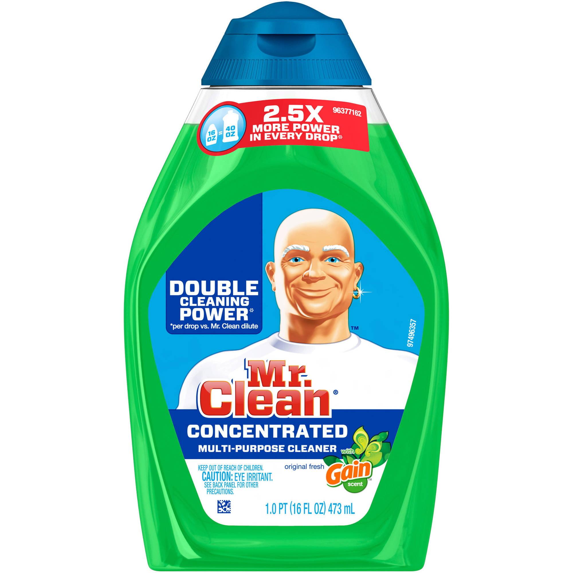 Mr. Clean Gain Original Fresh Scent Concentrated Multi-Purpose Cleaner, 16 oz
