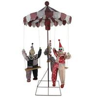 Clowns Go Round Animated Prop Halloween Decoration