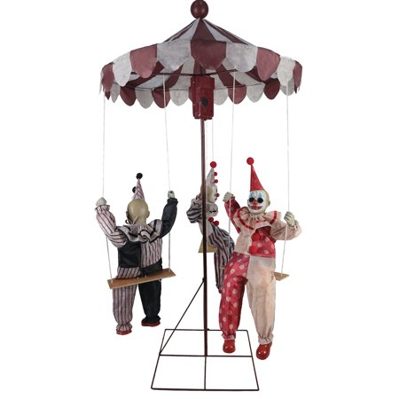 Clowns Go Round Animated Prop Halloween Decoration - Scary Clown Props For Halloween