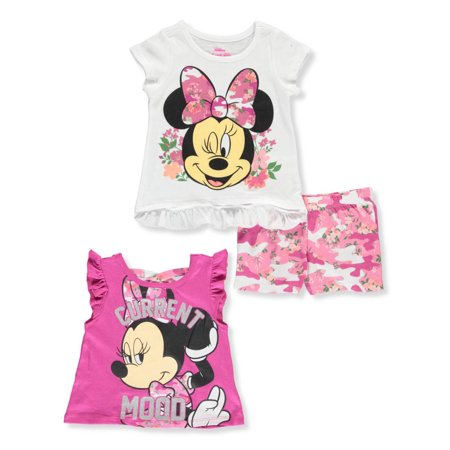 Disney Minnie Mouse Girls' 3-Piece Shorts Set Outfit](Minnie Mouse Adult Outfit)