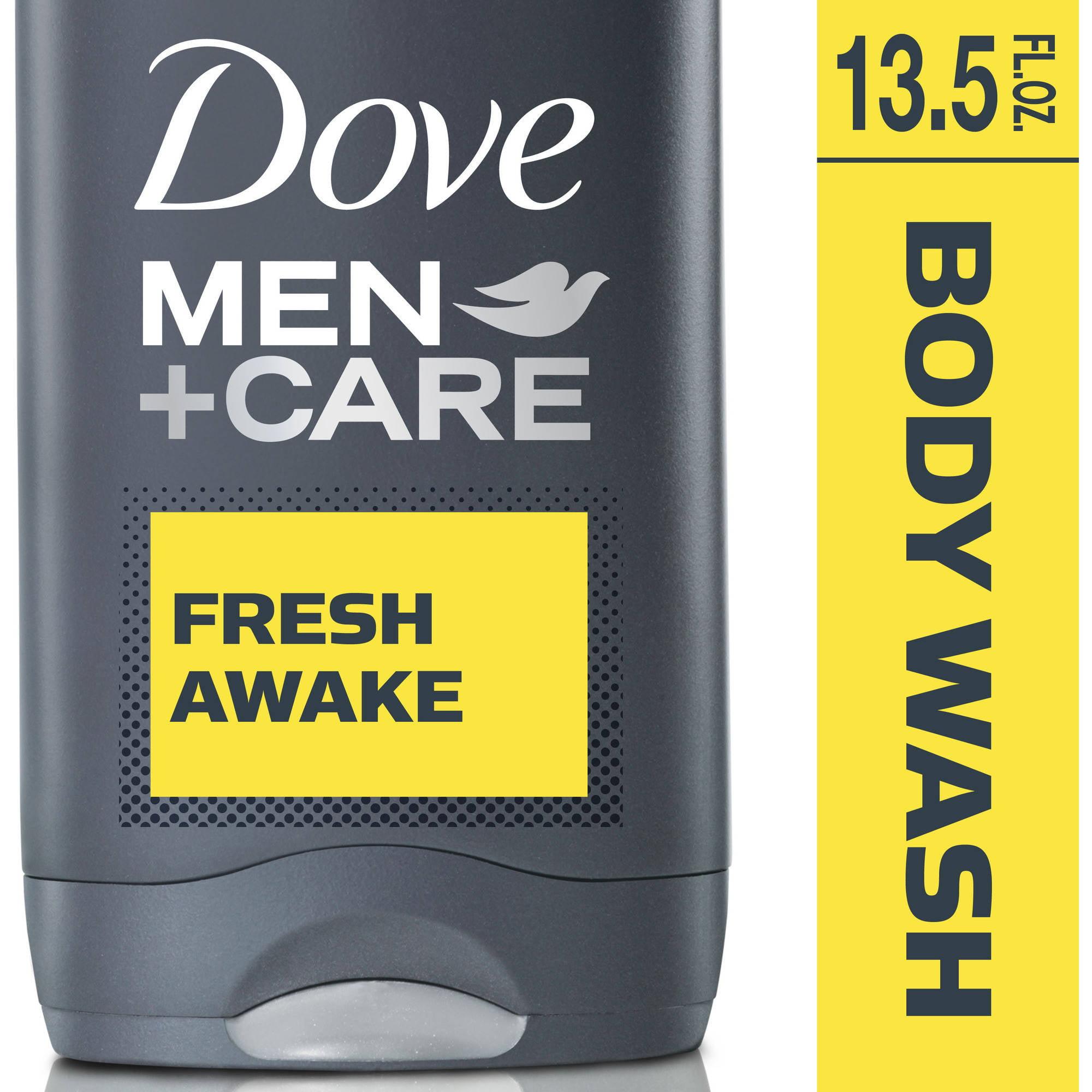 Dove Men Care Fresh Awake Body and Face Wash, 13.5 fl oz