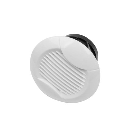 75mm Mounting Dia White Louver Ventilation Grille Circle Air Vent - Grille Mounted Lens