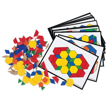 Learning Resources Pattern Block Activity Pack, 160 Pieces, Ages 2+](Learning Resources Inc)