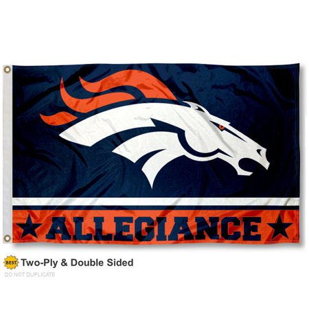 Denver Broncos Allegiance Two Sided Flag