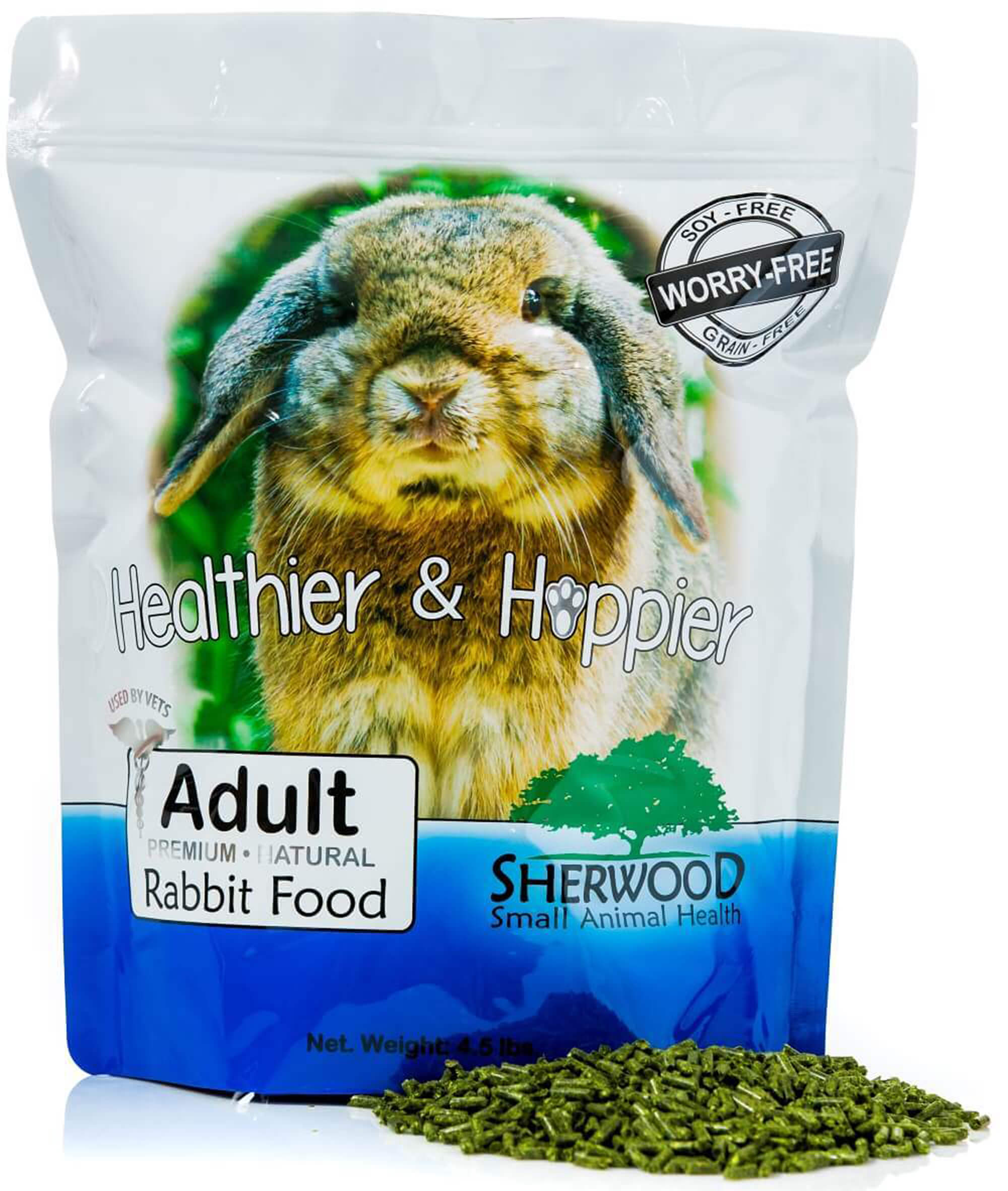 Rabbit Food, Sherwood Pet Health, Adult, Timothy blend (Grain & Soy-Free) (Vet Used) 4.5# by Sherwood Pet Heath