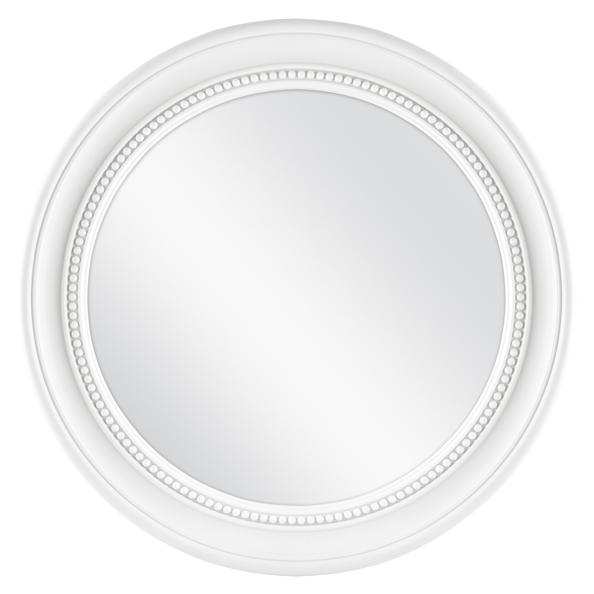 "Mainstays 18"" White Beaded Round Mirror by MCS Industries, Inc."