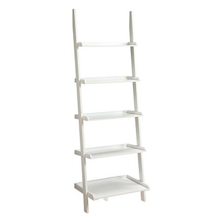 French Country Bookshelf Ladder With White Finish