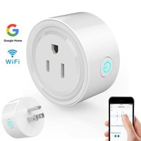 Smart Wifi Plug Outlet, Mini Smart Socket Plug Timing Function No Hub Required Control Your Appliances from Anywhere for iOS Android Smartphones Tablets