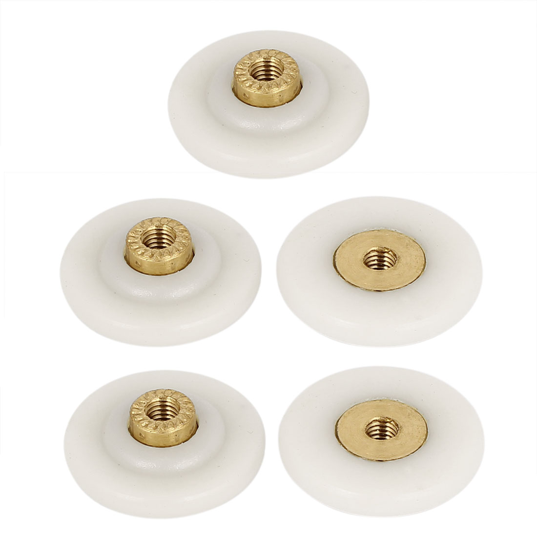 28mm Dia Sliding Pulleys Glass Shower Door Rollers Wheels Runners 5pcs