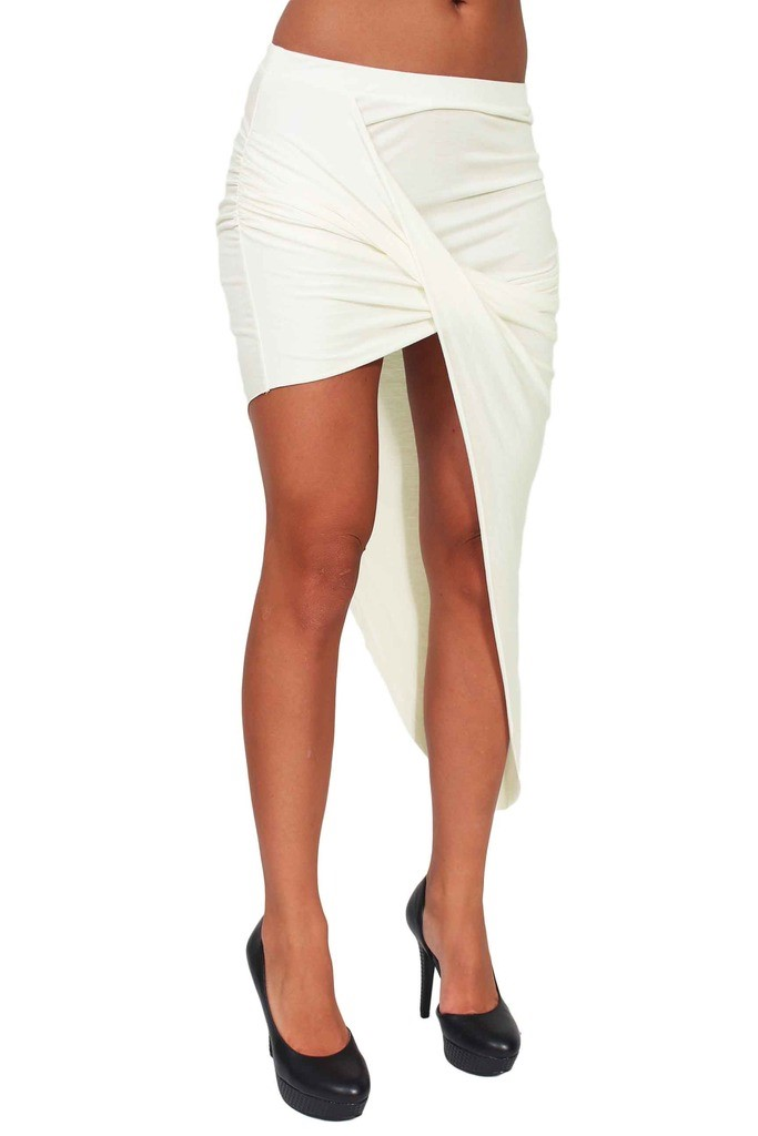Women/'s Rayon Skirt Twisted Draped Asymmetrical Made in the USA