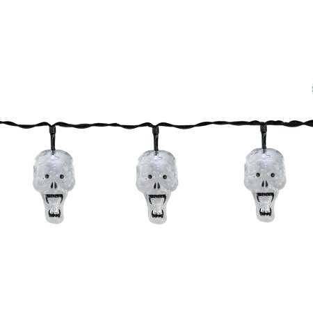 Set of 10 Battery Operated Skull LED Halloween Lights - Black Wire](Halloween 10 Disc Set Review)