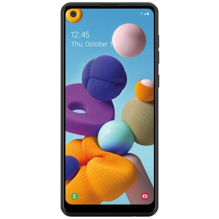 Simple Mobile Samsung Galaxy A21, 32GB, Black - Prepaid Smartphone