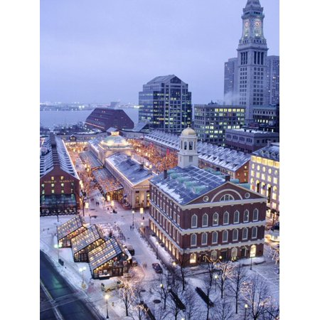 Quincy Market, Faneuil Hall, Boston, MA Print Wall Art By James - Home Depot Quincy Ma