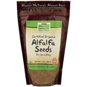 Alfalfa Seeds for Sprouting (Certified Organic) Now Foods 12 oz Seeds