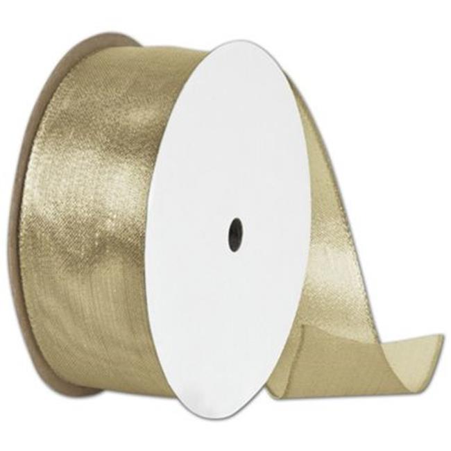 Deluxe Small Business Sales 280-1515-15 1. 5 inch x 15 yds.  Wire Edge Magic Wand Ribbon, Gold