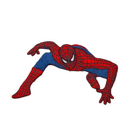 Spider-Man Action Stance Patch Marvel Comics Superhero Fan Iron-On Applique