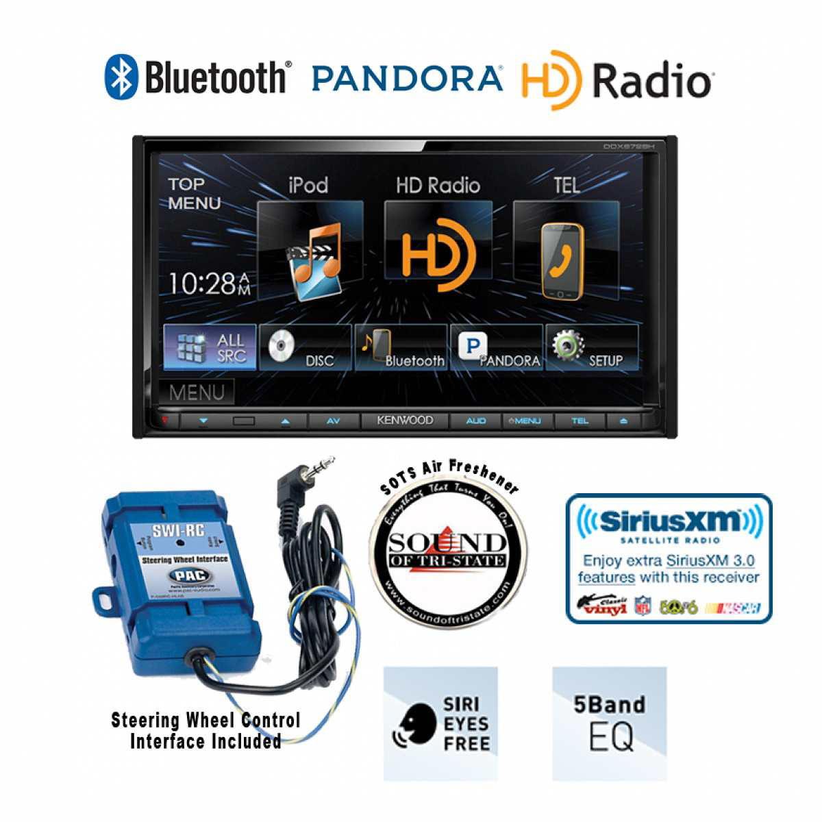 Kenwood DDX672BH Bluetooth Receiver  w/ PAC SWI-RC Steering Wheel Control Interface