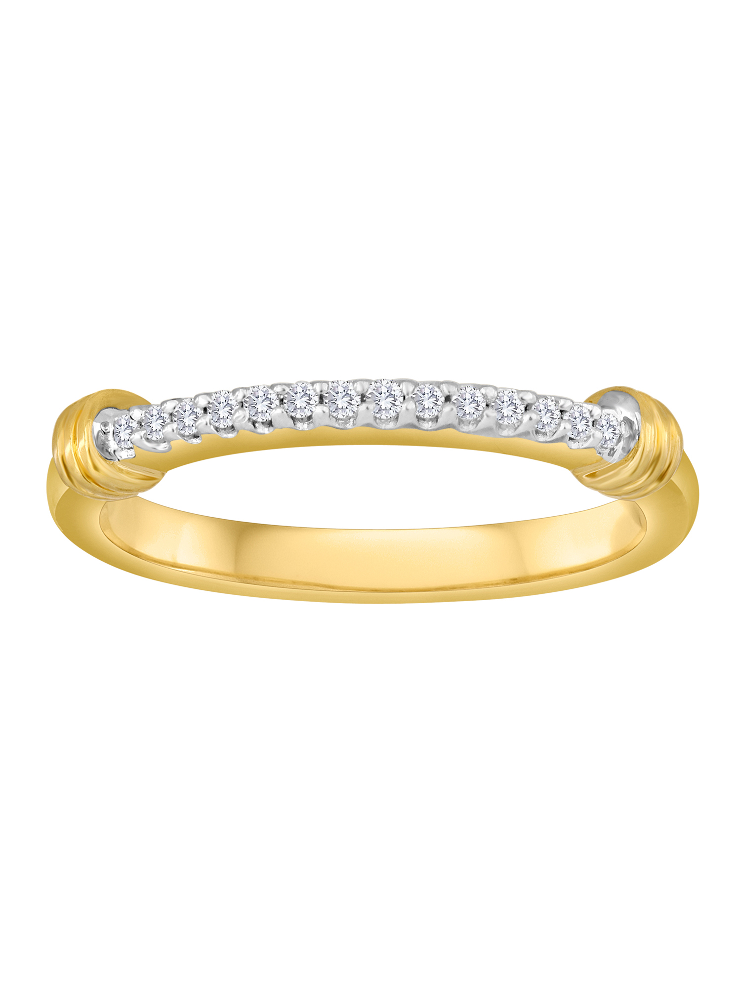 Knots of Love 14kt Yellow Gold over Sterling Silver 1/10 Carat T.W. Diamond Band Ring