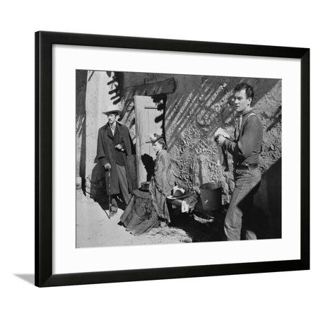 STAGECOACH, 1939 directed by JOHN FORD John Wayne Claire Trevor (b/w photo) Framed Print Wall Art